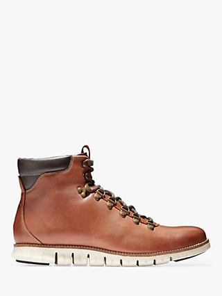 Cole Haan Zerogrand Leather Hiker Boots, Woodbury/Ivory