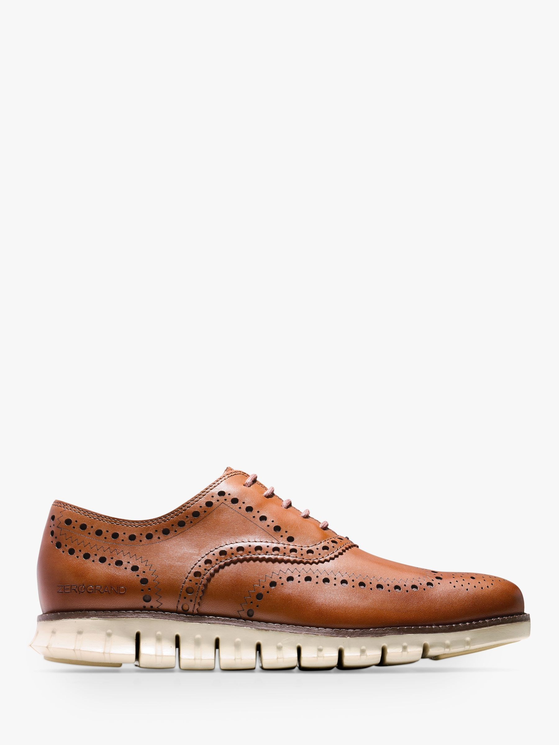 Cole Haan Cole Haan Zerogrand Wingtip Leather Oxford Shoes, British Tan
