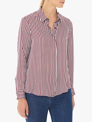 Gerard Darel Monroe Stripe Shirt, Burgundy/White