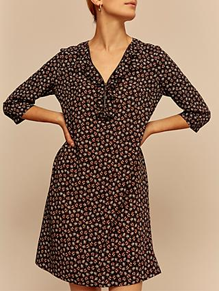 Gerard Darel Daria Floral Dress, Navy