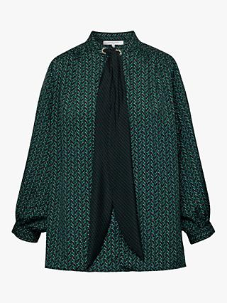 Gerard Darel Mathilda Neck Tie Blouse, Green