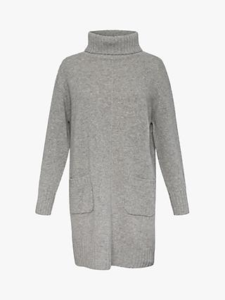 Gerard Darel Dinah Roll Neck Wool Cashmere Knit Dress, Grey