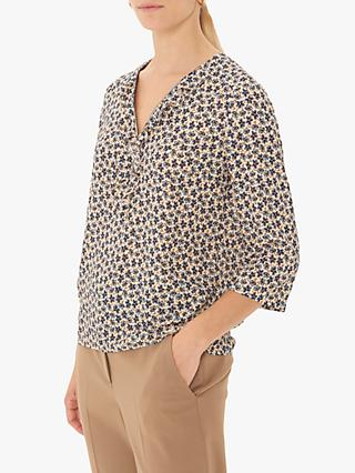 Gerard Darel Milo Zip Detail Floral Blouse, Multi