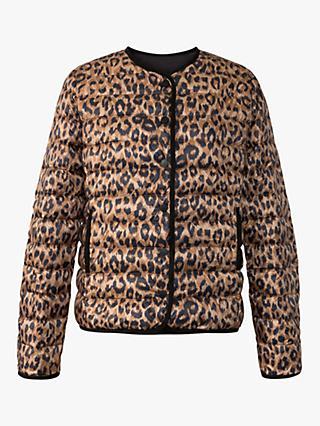 93930136c34 Gerard Darel Pao Leopard Print Quilted Jacket, Brown/Multi