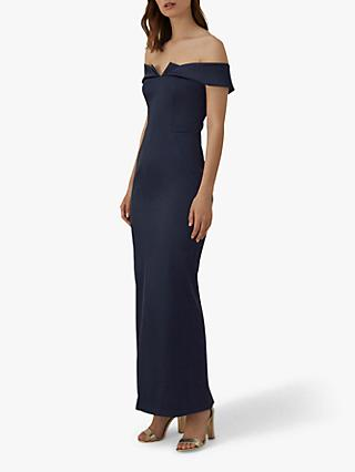 Karen Millen Satin Maxi Dress, Navy