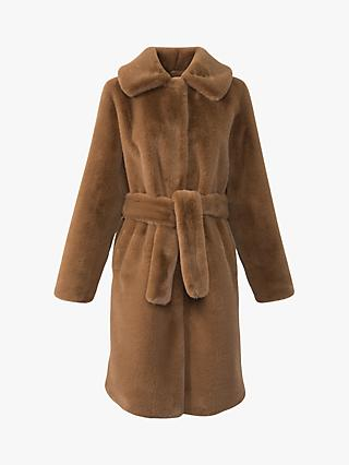 Gerard Darel Prune Faux Fur Coat