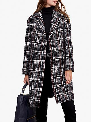 Gerard Darel Pivoine Wool Blend Check Coat, Blue