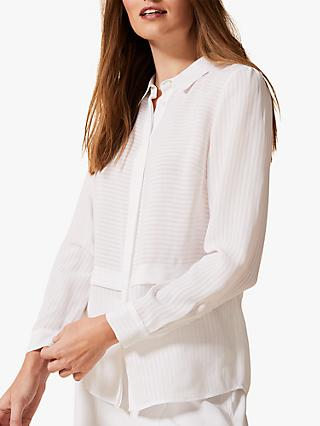Phase Eight Verity Stripe Shirt, White