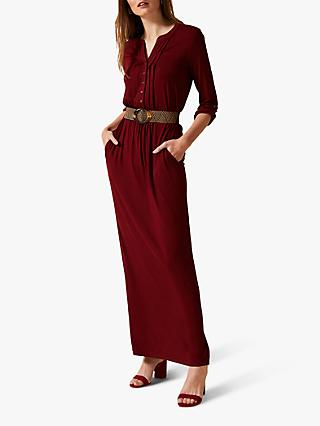 Phase Eight Breony Maxi Shirt Dress, Cinnamon