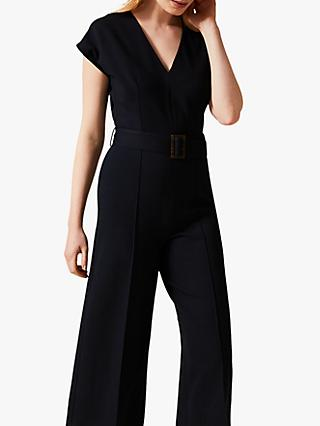 Phase Eight Lenka Belted Jumpsuit, Navy