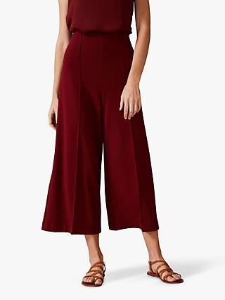 Phase Eight Lenka Ponte Wide Leg Trousers, Cinnamon