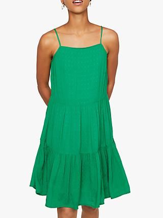 Warehouse Textured Mini Dress, Bright Green