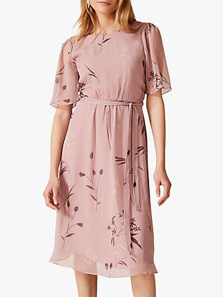 Phase Eight Norah Georgette Dress, Ballet Pink