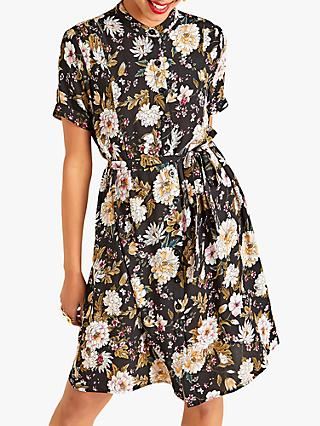 Yumi Earth and Flower Dress, Black/Multi