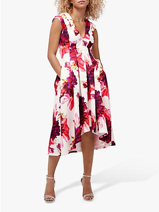Coast Blossom Floral Pleated Midi Dress, Multi