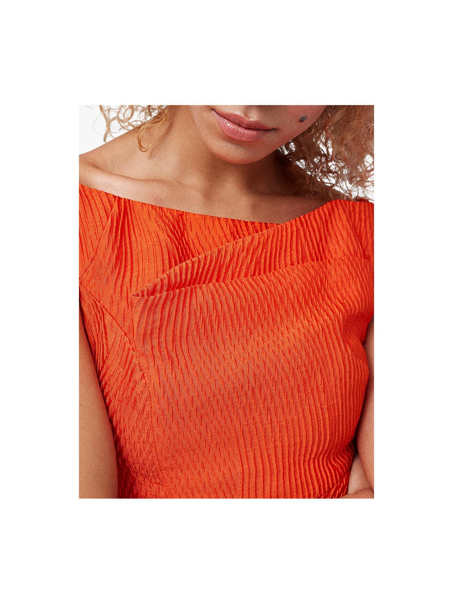 4eeb98058db33d ... Buy Coast Textured Hi Low Dress, Orange, 6 Online at johnlewis.com