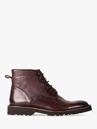 Oliver Sweeney Hareden Leather Military Boots, Brown