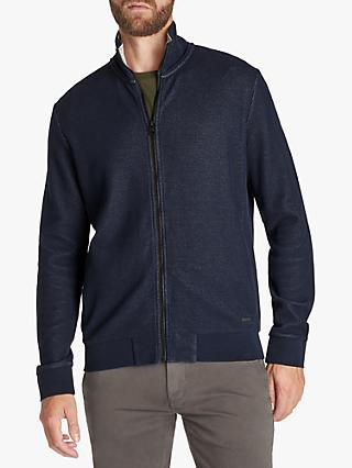 BOSS ZCover Zip Sweatshirt, Dark Blue