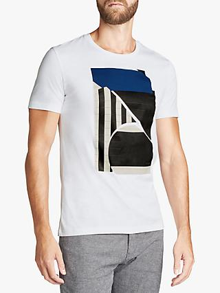 BOSS Piano Key Print T-Shirt, White