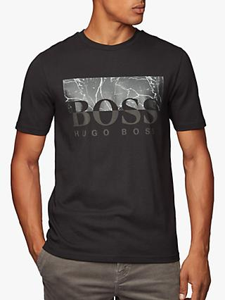 BOSS Marble Chest Print T-Shirt, Black