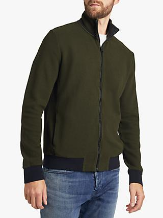 BOSS Z Cover Zipped Cotton Sweatshirt, Open Green