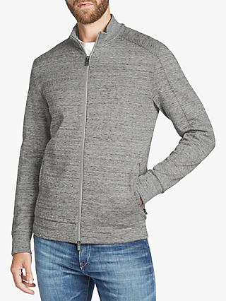 BOSS Shepherd Funnel Neck Zip Through Sweatshirt, Silver