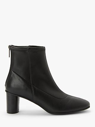 Kin Paulo Cone Heel Ankle Boots, Black