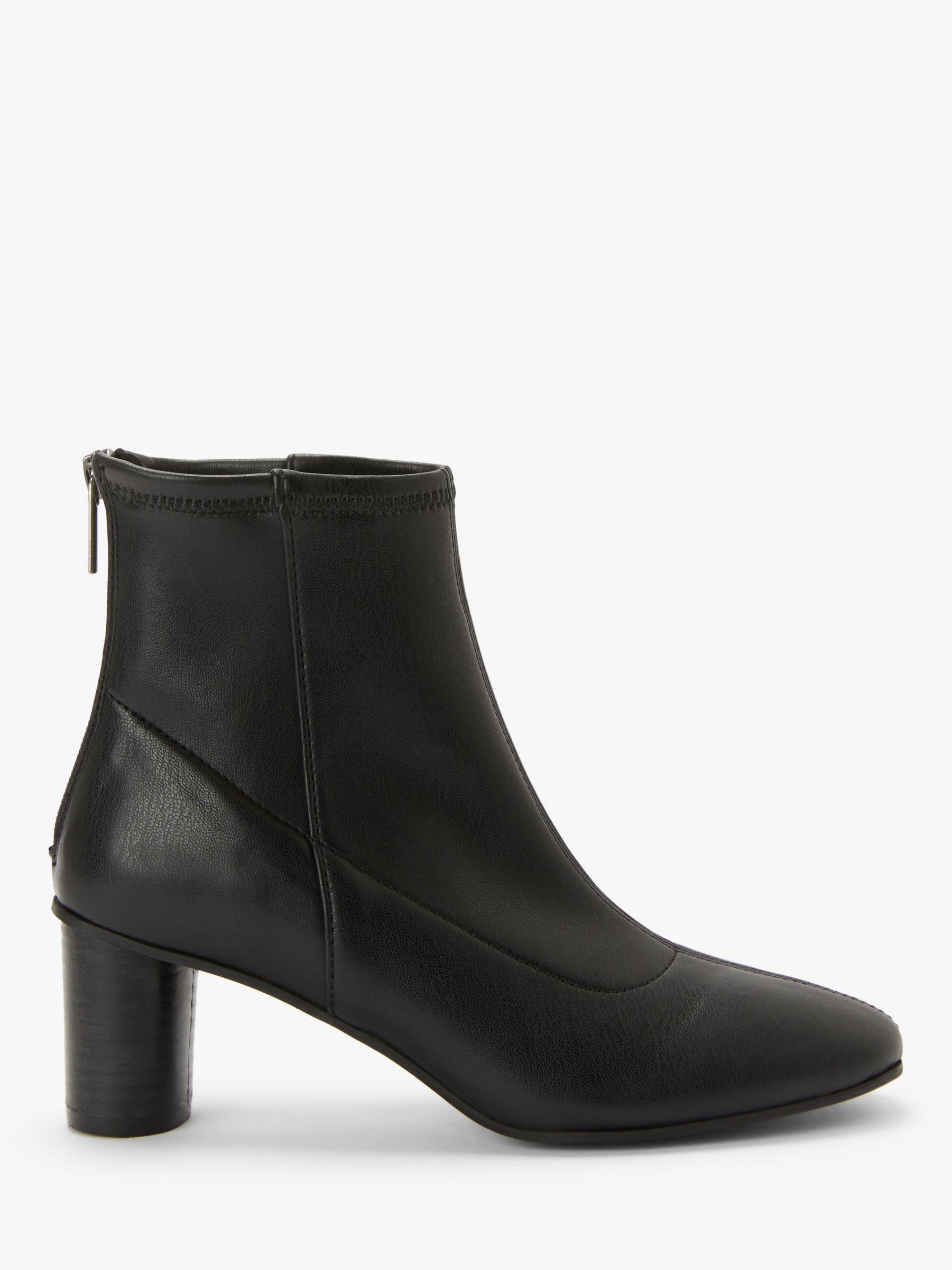 Kin Kin Paulo Cylindrical Heel Ankle Boots, Black