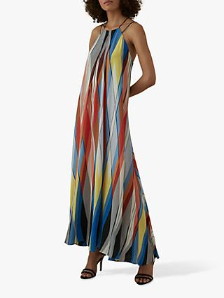Karen Millen Striped Maxi Dress, Multi