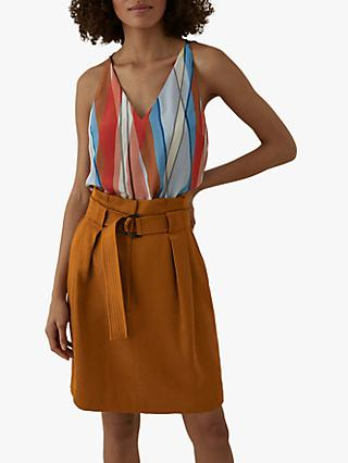 Karen Millen Striped Sleeveless Silk Top, Multi