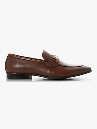 Dune Sepia Leather Loafers
