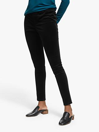 EILEEN FISHER Corduroy Jeggings, Black