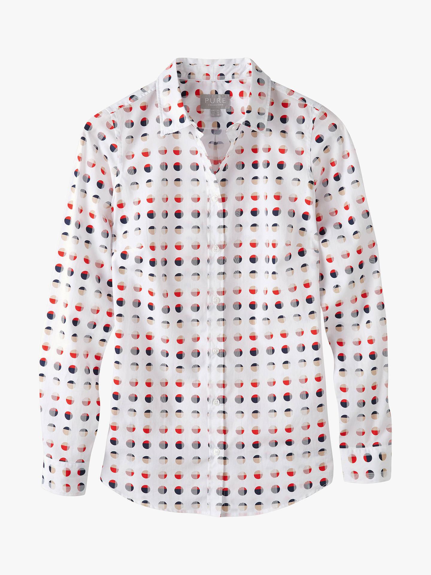 3e0390a6 Pure Collection Cotton Spot Print Shirt, Multi