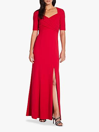 Adrianna Papell Crepe Pintuck Dress, Spiced Apple