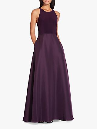 Adrianna Papell Jersey Taffeta Dress, Currant