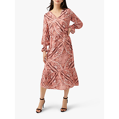 Pure Collection Georgette Midi Dress, Scarf Print