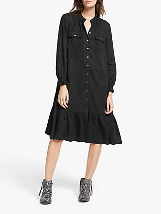 AND/OR Layla Ruffle Hem Shirt Dress, Black
