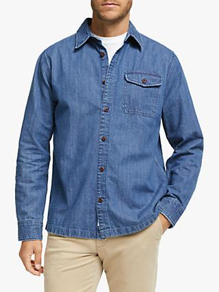 John Lewis & Partners 10oz Cotton Denim Overshirt