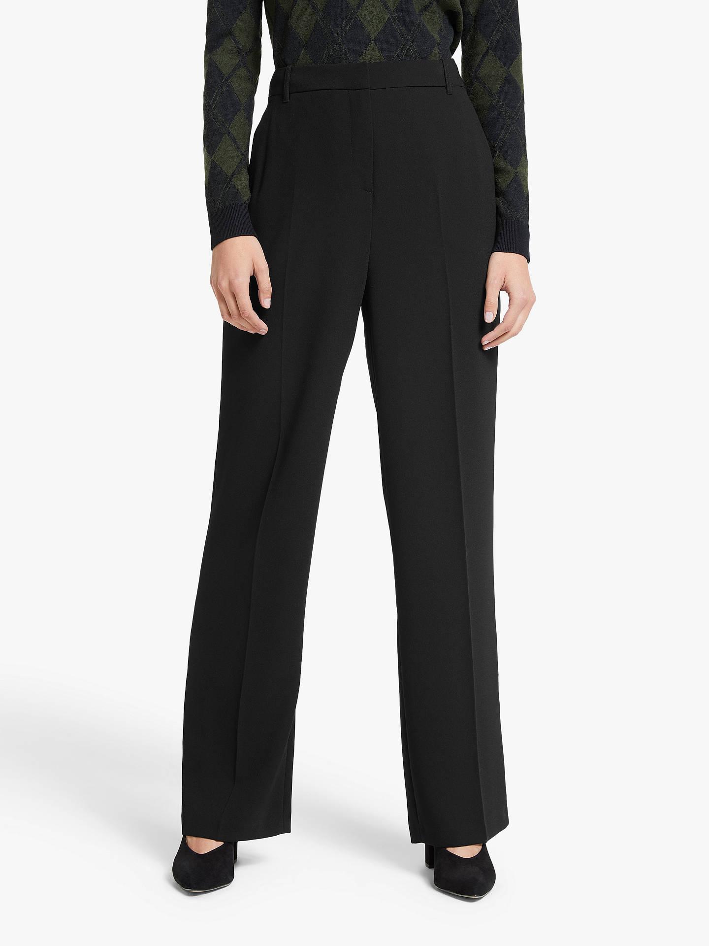 John Lewis & Partners Crop Tailored Trousers, Black by John Lewis & Partners
