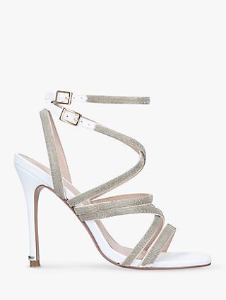 d1118e4b2566 Carvela Game Embellished Stiletto Heel Strappy Sandals, White