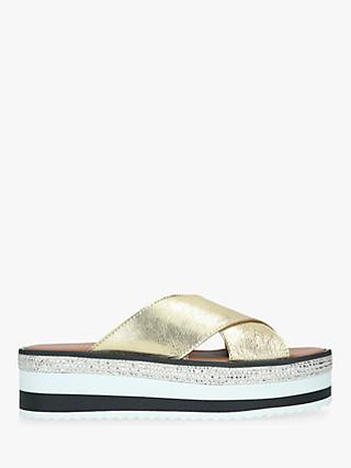 Carvela Karlos Flatform Leather Sliders