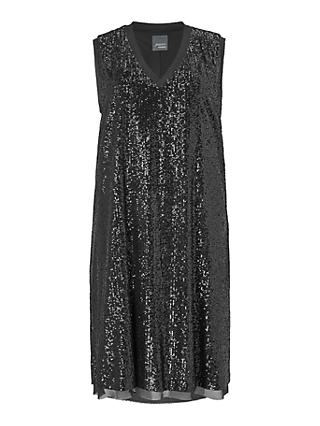 Persona by Marina Rinaldi Sleeveless Sparkle Dress, Black