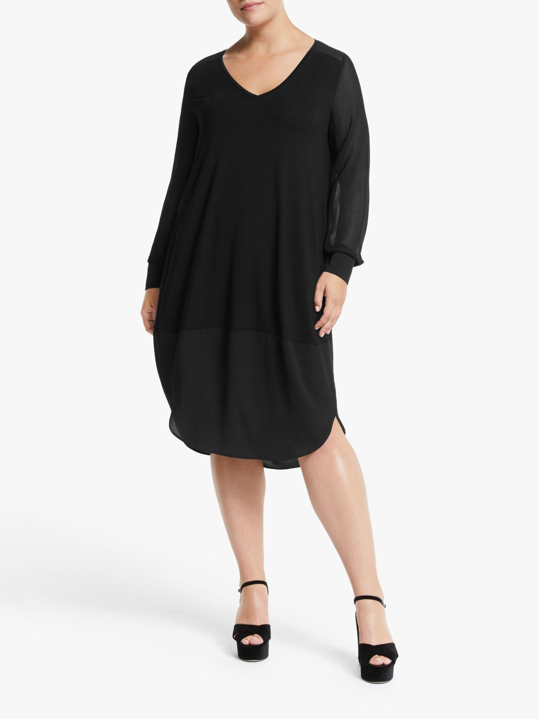 Persona by Marina Rinaldi Persona by Marina Rinaldi Long Sleeve Jersey Dress, Black