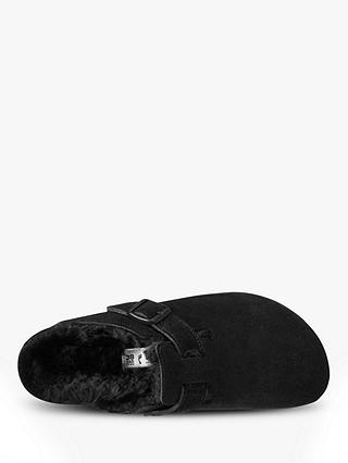 Buy Birkenstock Boston Suede Slippers, Black, 7 Online at johnlewis.com