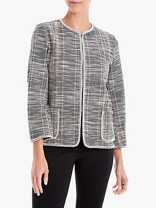 Max Studio Tweed Jacket, Black/Multi