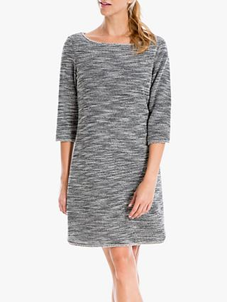 Max Studio Tweed Dress, Black/Ivory
