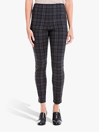 Max Studio Check Trousers, Charcoal/Sienna