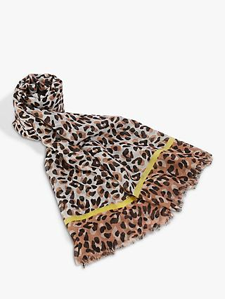 Oasis Arabella Leopard Scarf, Animal