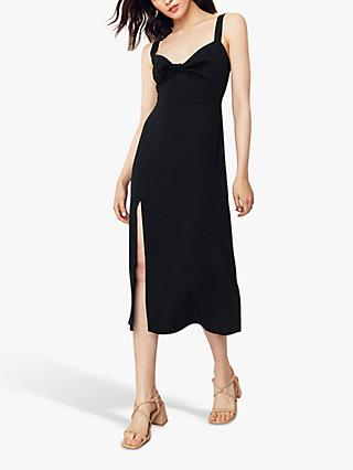 Oasis Tie Front Midi Dress, Black