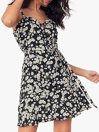 Oasis Daisy Sun Dress, Black